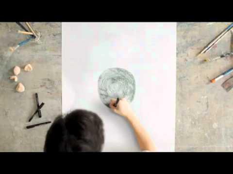 衝撃&感動!紙にただ円を描いているだけだと思ったらまさかの…