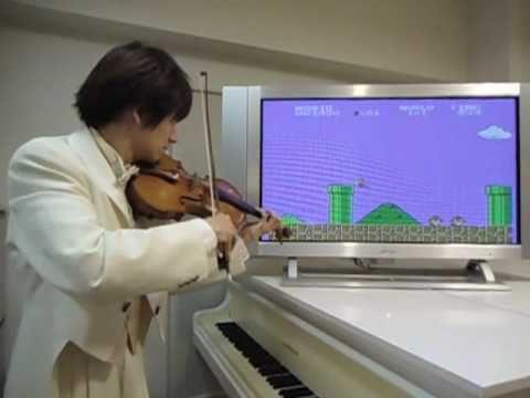 コインの音まで再現!スーパーマリオブラザーズをヴァイオリンだけで演奏