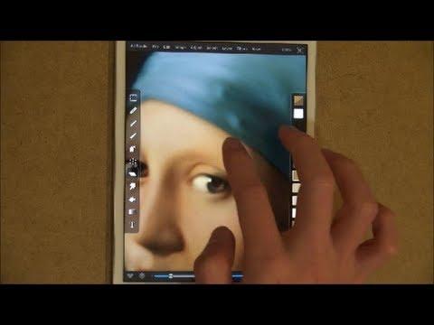 鳥肌!スゴ技!フェルメールの「真珠の耳飾の少女」をiPadで模写