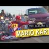 【映像】迷惑極まりないwマリオカートを実際に街中で再現したら…
