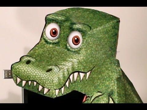 不思議!絵は動いていないのにどこから見てもこっちを見てくる恐竜