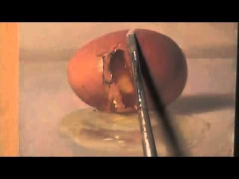 3分の映像に目が釘付け!絵で書かれた卵を割って中身を取り出す神業アート