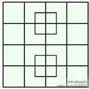 【正方形は何個?】31個見つけたら人材、35個は天才、40個が最大!