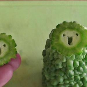【なんか可愛い】野菜を切ったら個性的なキャラクターが生まれた(10種)