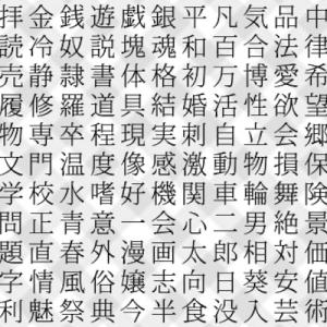 【一瞬でわかる心理テスト】あなたの人生で重要な「3つ」の単語(漢字版)