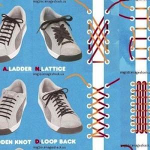 【この図解は保存したい】靴ひもの結び方を一覧にした画像がおもしろい!