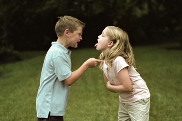 brother and sister fighting