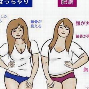 【うっ…】「ぽっちゃり」と「肥満」の違いを表したイラストがわかりやすいと話題