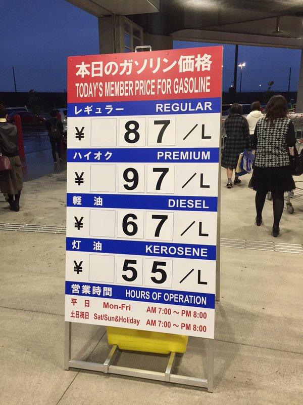 コストコ ガソリン 値段