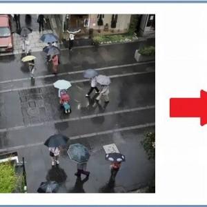 雨が降ると仕掛けが!水に濡れると「変化する道路」がスゴイ【画像】