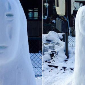 街中で遭遇したらビビる!(笑)力作揃いの「すごい雪だるま」【12枚】