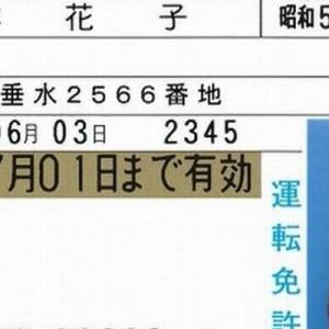 只者じゃねぇ!(笑)免許証のサンプル、「日本花子さん」のスペックをよく見てみると…