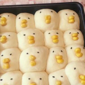 大変な姿になってしまった!(笑)ひよこのパンを焼いたら予定とは違った【焼く前→焼いた後】
