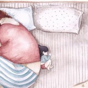 【大きくて優しい愛】父と娘の日常を描いたイラストに心温まる人続出中(11枚)