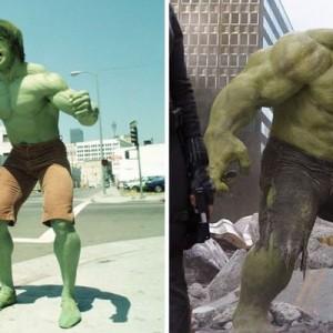【今とはやっぱり全然違う…!】スーパーヒーローたちの昔と現在(比較画像9枚)