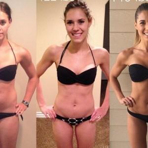 「体重計の数字ばかりを気にするな!」同じ女性が横に3つ並んだ写真、重さと見た目と説得力!