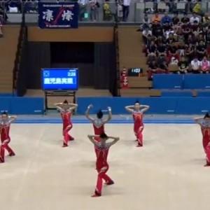 【流行盛り込みすぎ!】ハイレベルな技で笑いも取る鹿実高校新体操部の演技が今年もキタッ…!