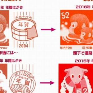 【12年越しのデザイン】2015年→マフラー、16年→猿の親子!2017年→酉と秘密の文字