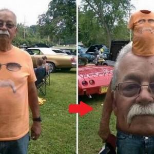思ってたのと違う!(笑)顔交換アプリで遊んでいたら、トンデモ写真に仕上がった8枚