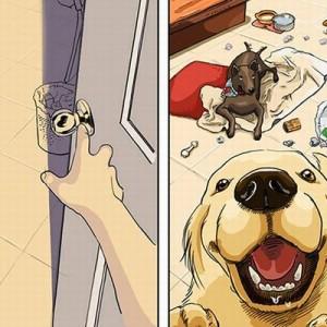 犬を「飼う前」と「飼った後」の暮らしの変化を表したイラストが面白い!(8枚)