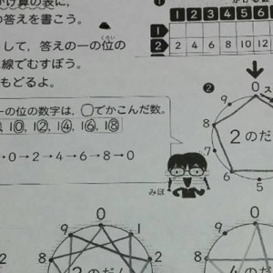 掛け算の「九九」を図で表したら、こんなに美しかった!小学生の算数のプリントに感動、スゴイ!