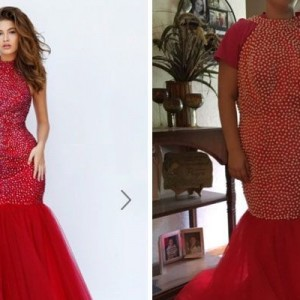 なんか違くね?(笑)通販で買ったドレスが届いたので、着用してみた8選
