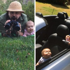 パパ気合い入りすぎ!(笑)生まれたばかりの愛娘とコラボする父の写真が可愛すぎて最高10枚