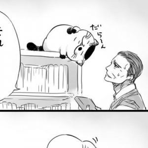 究極の癒しがここに!おじさまと猫の4コマ漫画、『番外編』がクスッと!(8作品)