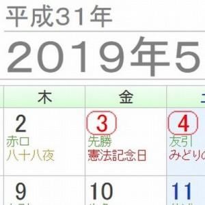 もしも2019年5月1日が『改元記念日』で祝日になったら?こ、これは…!