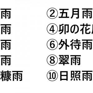 【これは難しいぞ?】日本の雨の呼び名クイズ(全10問)