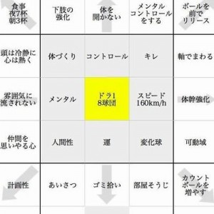 【目標達成表】大谷翔平の今を作った花巻東高校時代の「夢実現シート」が凄い!