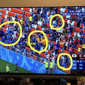 【最高かよ】サッカー・ワールドカップ初戦、日本とコロンビアのサポーターを見てほしい