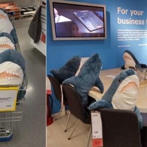 イケアのサメの「ぬいぐるみ」が可愛すぎると話題→売り切れ中で掲示されていた張り紙が(笑)