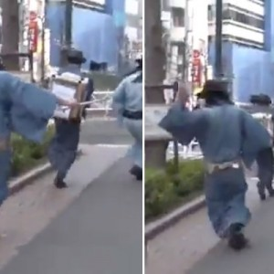 渋谷の街で侍の姿が!→何をしてるのかと思ったら…素晴らしい!