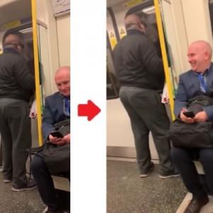 電車内でボン・ジョヴィを熱唱する男がいたが、ある場面でみんなが一斉に突っ込んだ!(笑)