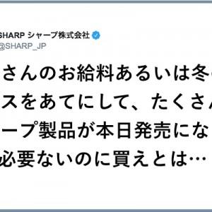 正直すぎる!(笑)SHARPさん「冬のボーナスをあてにして」ユーザーからオススメを聞かれ返答が