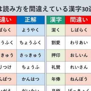 実は読み方を間違えている漢字30選!「漢字の正しい読み方を知っておきましょう」